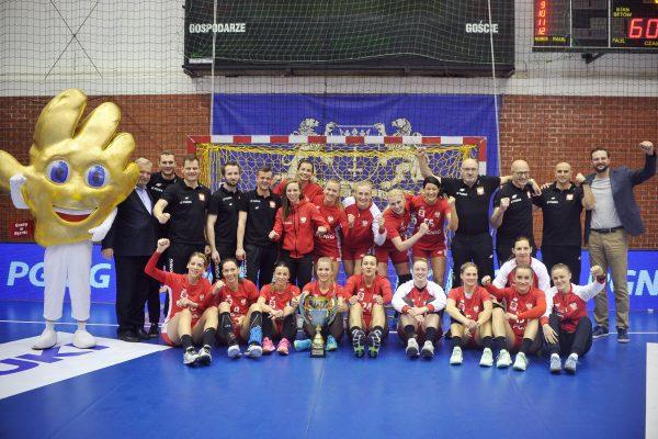 2019.03.24 Gdansk Pilka reczna Baltic Handball Cup 2019 Argentyna - Polska N/z Polska grupowe puchar Foto Norbert Barczyk / PressFocus